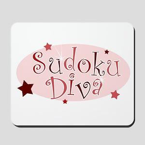 """Sudoku Diva"" [red] Mousepad"